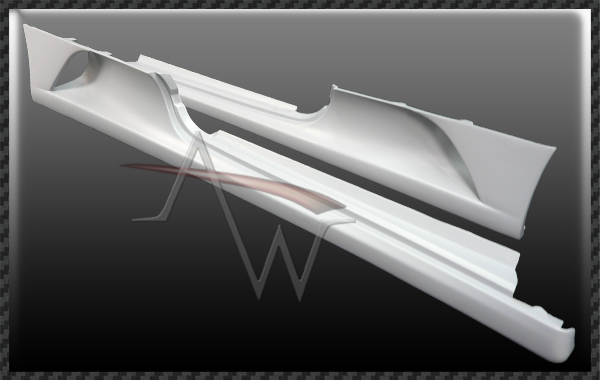 F430 Challenge Style Side Skirts - 1 pair