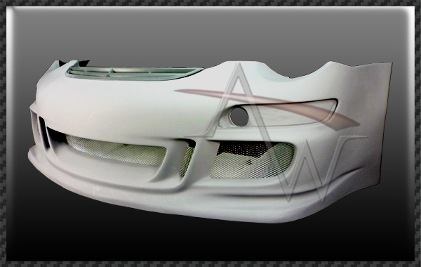 911/997 GT3 CUP-S' OEM LOOK Front Spoiler with Bumper Cover with Front Grill