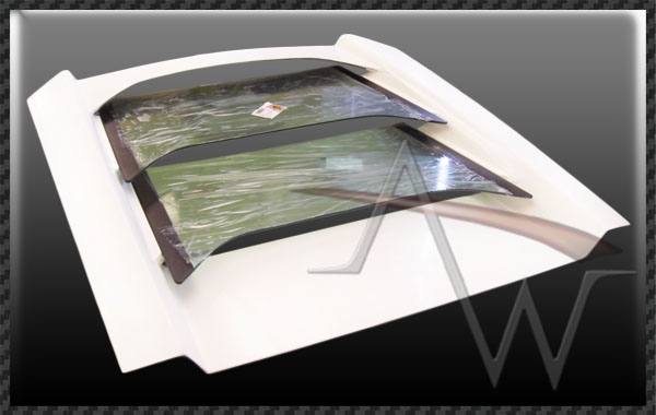 Murcielago LP650 OEM Style Rear Hood with Glass for LP640